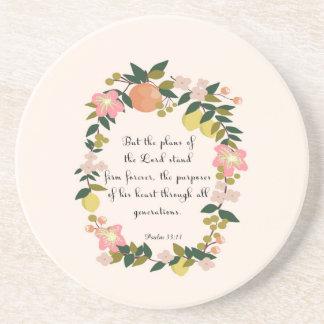 Cool Christian Art - Psalm 33:11 Coasters