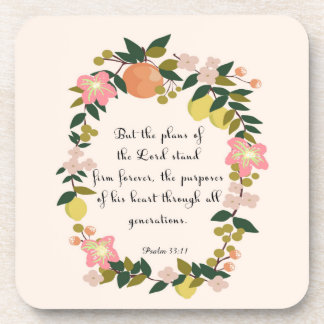 Cool Christian Art - Psalm 33:11 Coasters