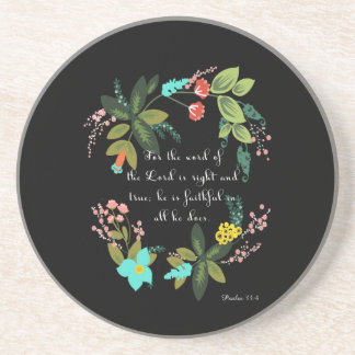 Cool Christian Art - Psalm 33:4 Beverage Coaster