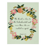 Cool Christian Art - Psalm 34:18 Poster