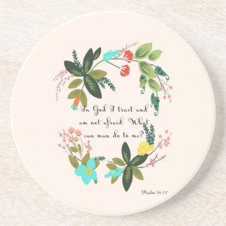 Cool Christian Art  - Psalm 56:11 Drink Coaster