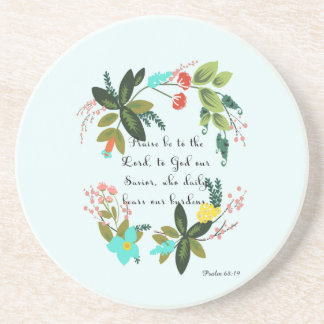 Cool Christian Art - Psalm 68:19 Beverage Coasters