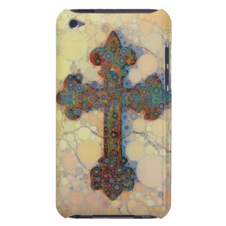 Cool Christian Cross Circle Mosaic Pattern Barely There iPod Cases