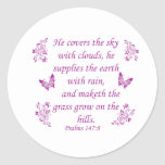 Cool Christian designs Classic Round Sticker