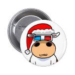 Cool Christmas Cow Pin