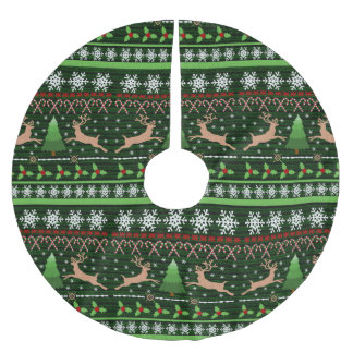 Cool Christmas Sweater Pattern Brushed Polyester Tree Skirt