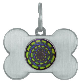 Cool circle design pet ID tag