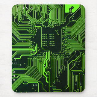 Cool Circuit Board Computer Green Mouse Pad