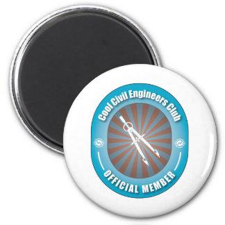 Cool Civil Engineers Club 6 Cm Round Magnet