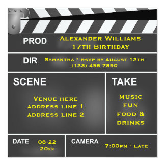 Cool Clapper Board 17th Birthday Card