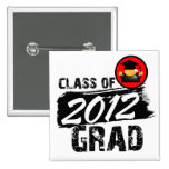 Cool Class of 2012 Grad Pinback Buttons