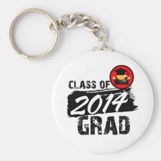 Cool Class of 2014 Grad Basic Round Button Key Ring
