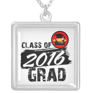 Cool Class of 2016 Grad Square Pendant Necklace