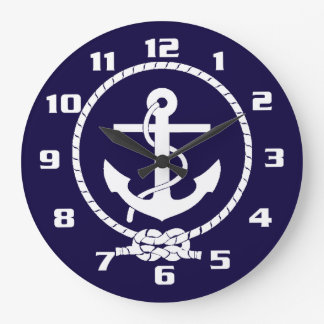 Cool Classic and Elegant Nautical Anchor Large Clock