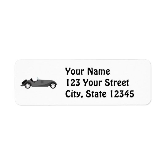 Cool Classic Car Return Address Label