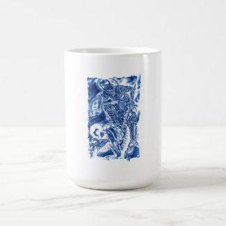 Cool Classic Japanese Demon tattoo Basic White Mug