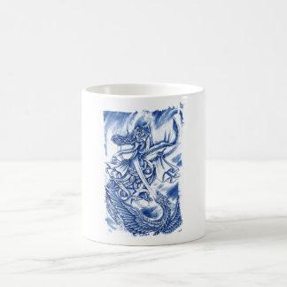 Cool Classic Japanese Demon tattoo Coffee Mugs