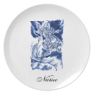 Cool Classic Japanese Demon tattoo Party Plate