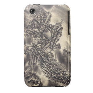 Cool classic vintage japanese demon dragon tattoo iPhone 3 Case-Mate case