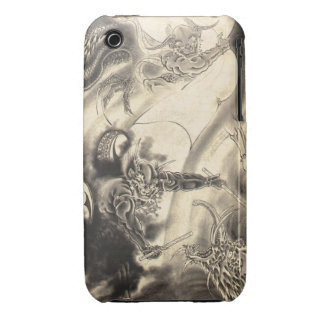 Cool classic vintage japanese demon dragon tattoo iPhone 3 Case-Mate cases