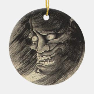Cool classic vintage japanese demon head tattoo ornaments