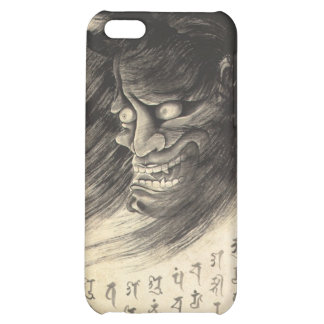 Cool classic vintage japanese demon head tattoo cover for iPhone 5C