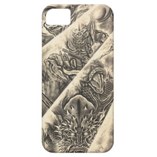 Cool classic vintage japanese demon ink tattoo case for the iPhone 5