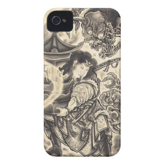 Cool classic vintage japanese demon ink tattoo Case-Mate iPhone 4 cases