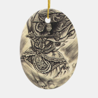 Cool classic vintage japanese demon ink tattoo christmas ornaments