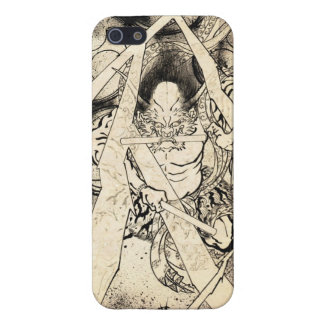 Cool classic vintage japanese demon ink tattoo iPhone 5 cases