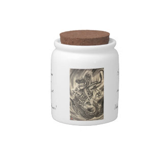 Cool classic vintage japanese demon ink tattoo jap candy jar