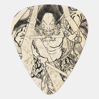 Cool classic vintage japanese demon ink tattoo plectrum