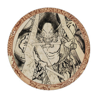 Cool classic vintage japanese demon ink tattoo poker chips