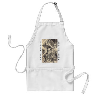 Cool classic vintage japanese demon ink tattoo standard apron