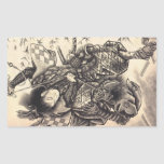 Cool classic vintage japanese demon ink tattoo rectangular sticker