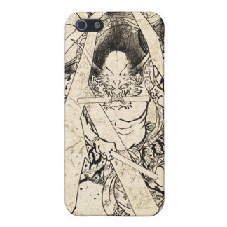 Cool classic vintage japanese demon ink too iPhone 5 cases