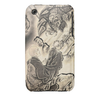 Cool classic vintage japanese demon monk tattoo iPhone 3 cases