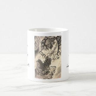 Cool classic vintage japanese demon monk tattoo mug