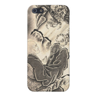 Cool classic vintage japanese demon monk too cover for iPhone 5/5S