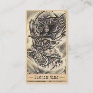 Vintage tattoo art business cards business card printing zazzle uk cool classic vintage japanese demon tattoo art business card reheart Gallery
