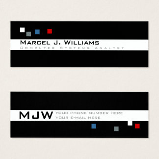 cool color pixels modern professional mini business card