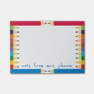 Cool Colored Pencil Boarder Post-it Notes