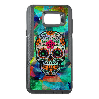 Cool Colorful Background With Floral Sugar Skull