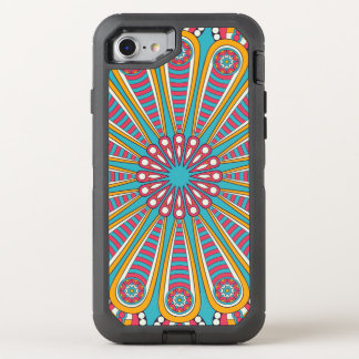 Cool colorful Boho Mandala OtterBox Defender iPhone 7 Case