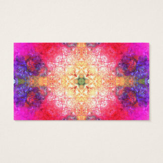 Cool Colorful Bright Psychedelic Rose Pattern Business Card