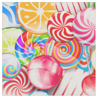 Cool Colorful Candy Pattern Fun Fabric