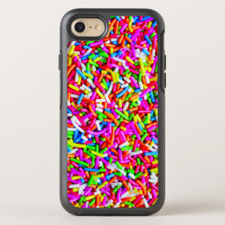 Cool Colorful Candy Sprinkles Pink Blue White OtterBox Symmetry iPhone 7 Case