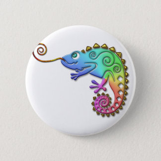 Cool Colorful Chameleon 6 Cm Round Badge