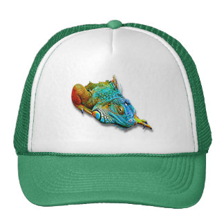 Cool Colorful Cute Rainbow Lizard Reptile Cap