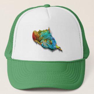 Cool Colorful Cute Rainbow Lizard Reptile Trucker Hat